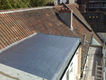 New flat roof installed